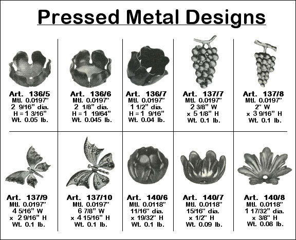 Pressed Metal Designs Image