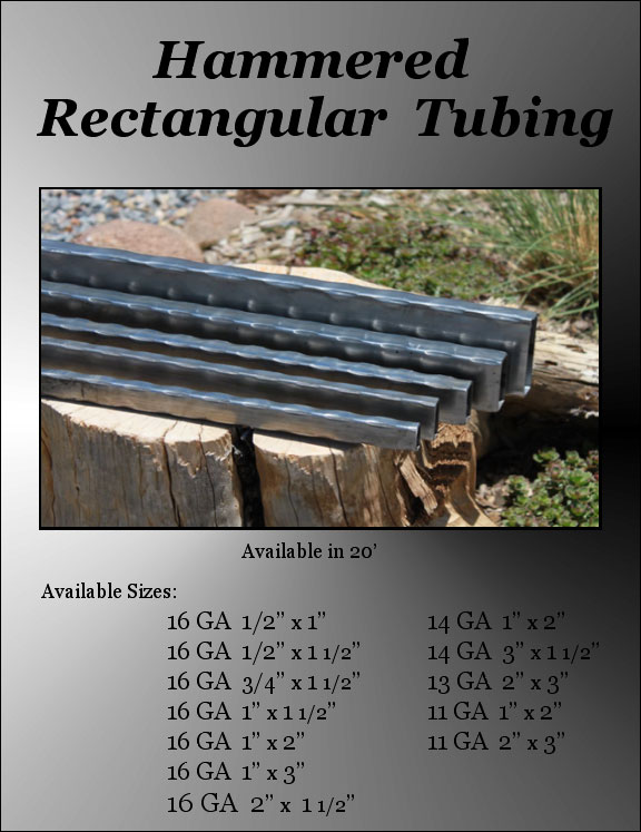 Hammered Tubing - Rectangular Image