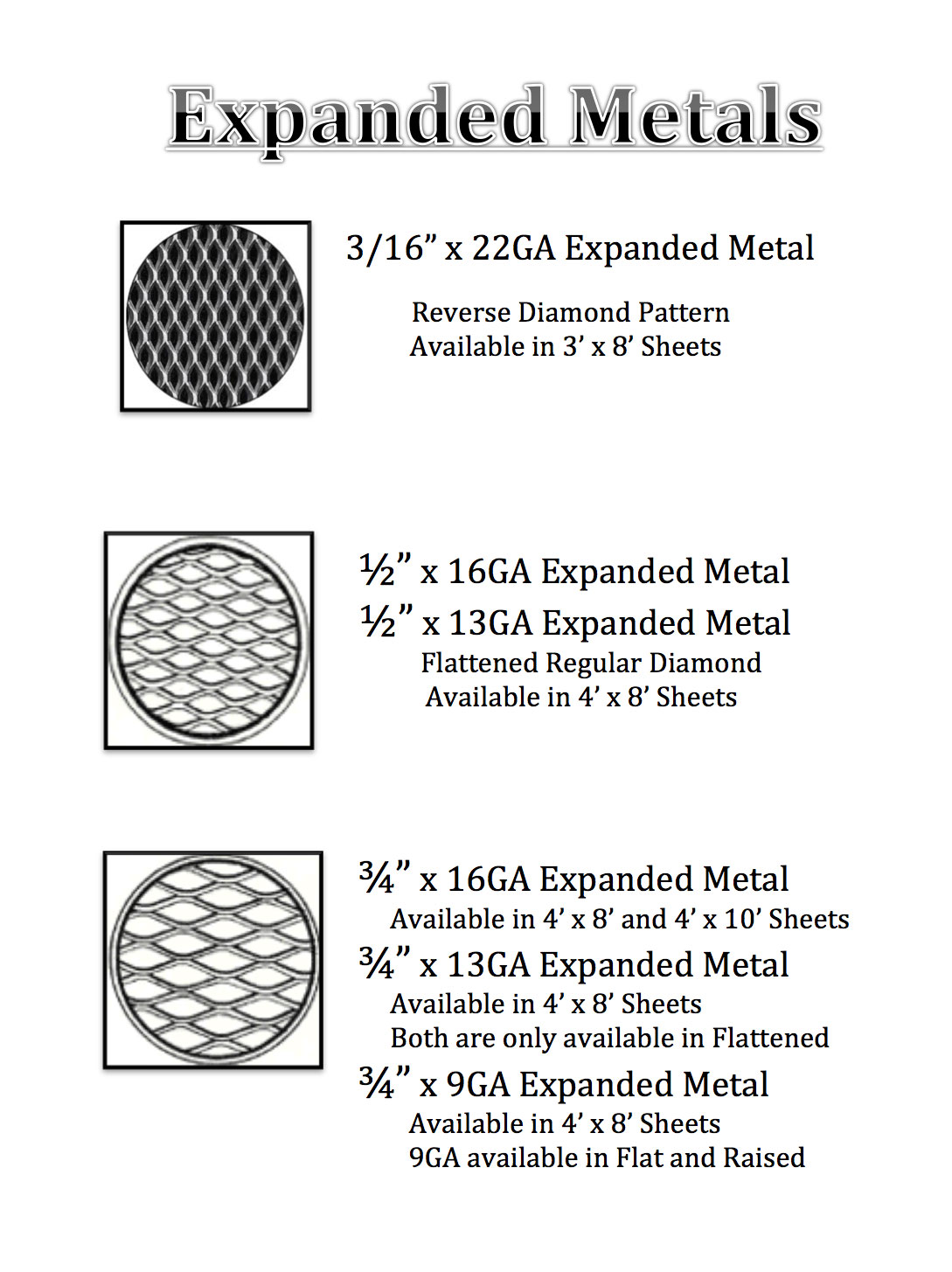 Expanded Sheet Metal Image